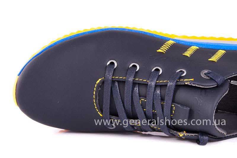 Подростковые кожаные кроссовки GS JUNIOR 10 ZIDAN bl. фото 9