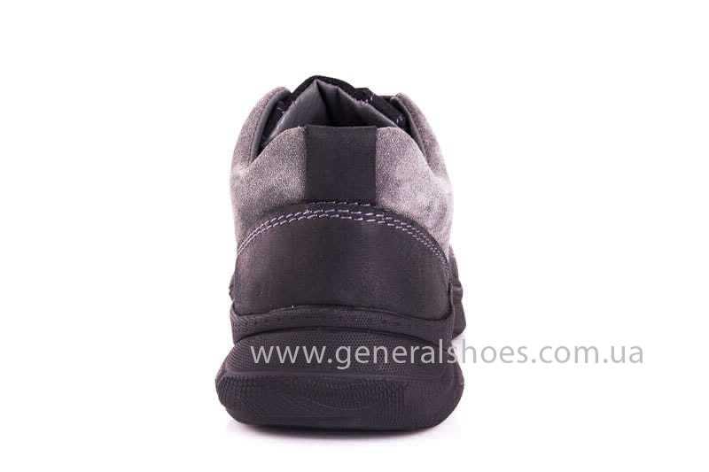 Подростковые кожаные кроссовки GS JUNIOR 13 blk. фото 4