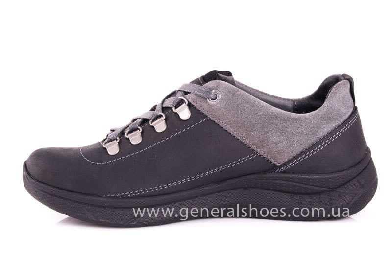 Подростковые кожаные кроссовки GS JUNIOR 13 blk. фото 5