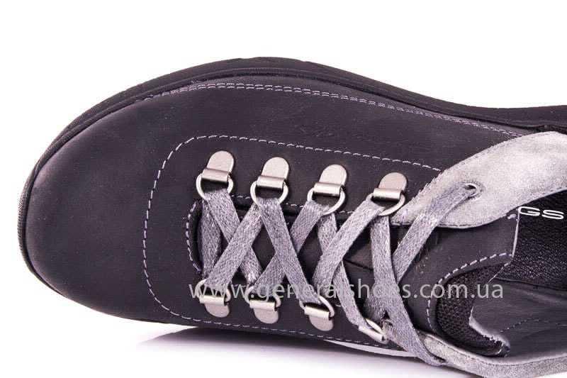 Подростковые кожаные кроссовки GS JUNIOR 13 blk. фото 7