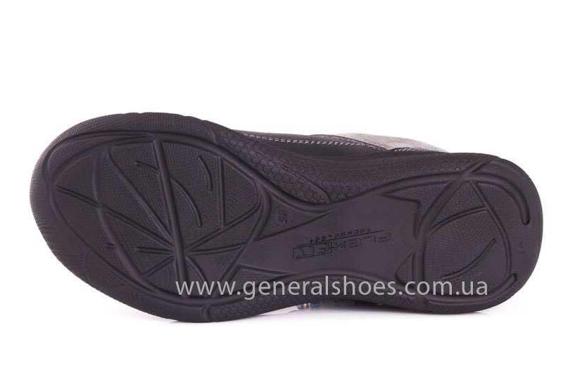 Подростковые кожаные кроссовки GS JUNIOR 13 blk. фото 8