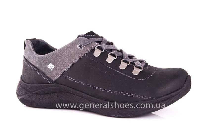 Подростковые кожаные кроссовки GS JUNIOR 13 blk. фото 1