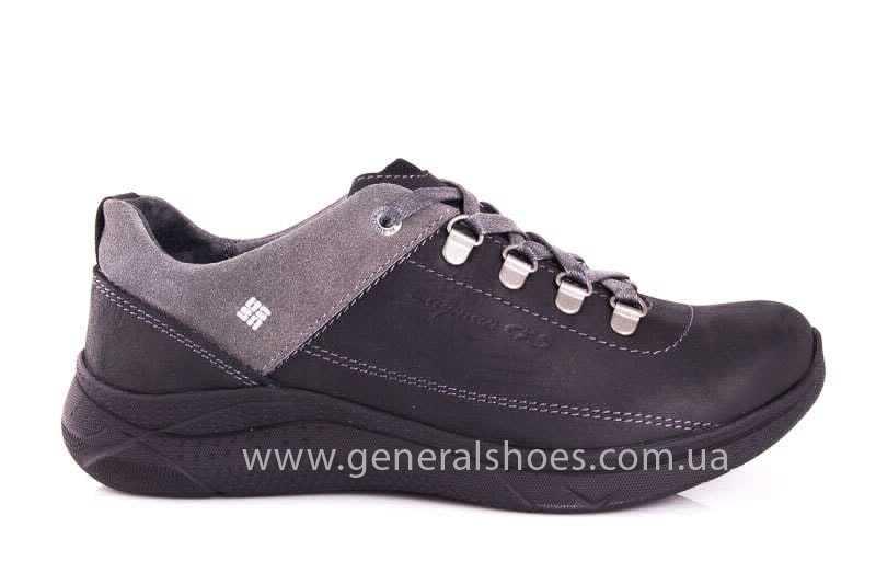Подростковые кожаные кроссовки GS JUNIOR 13 blk. фото 2