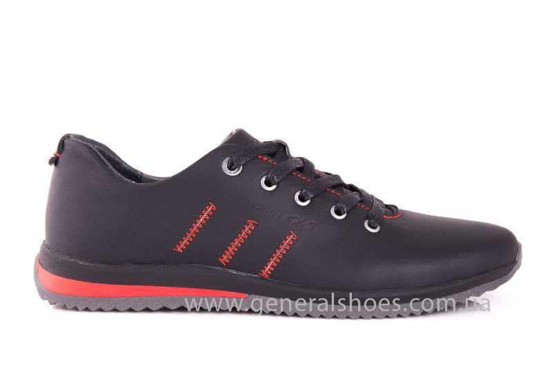 Подростковые кожаные кроссовки GS Junior 10 Zidan blk фото 2