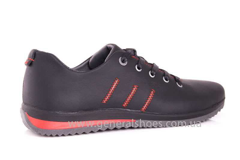 Подростковые кожаные кроссовки GS Junior 10 Zidan blk фото 3