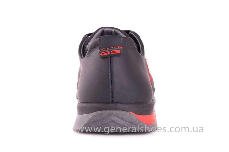 Подростковые кожаные кроссовки GS Junior 10 Zidan blk фото 4