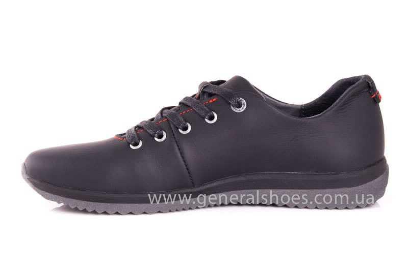 Подростковые кожаные кроссовки GS Junior 10 Zidan blk фото 5