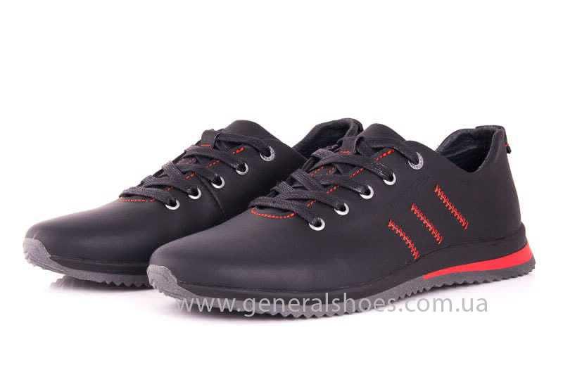 Подростковые кожаные кроссовки GS Junior 10 Zidan blk фото 6