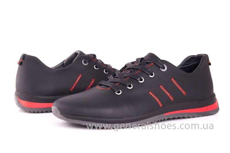 Подростковые кожаные кроссовки GS Junior 10 Zidan blk фото 7