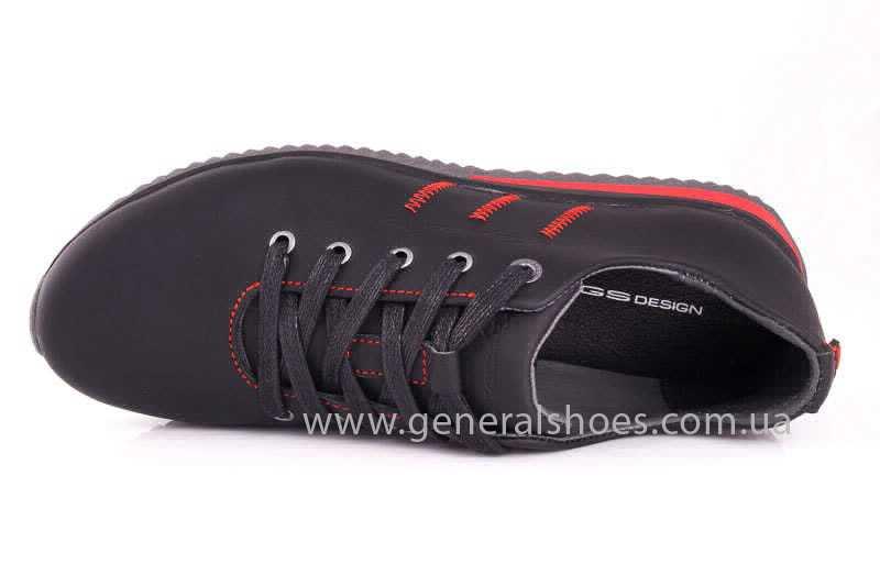 Подростковые кожаные кроссовки GS Junior 10 Zidan blk фото 8