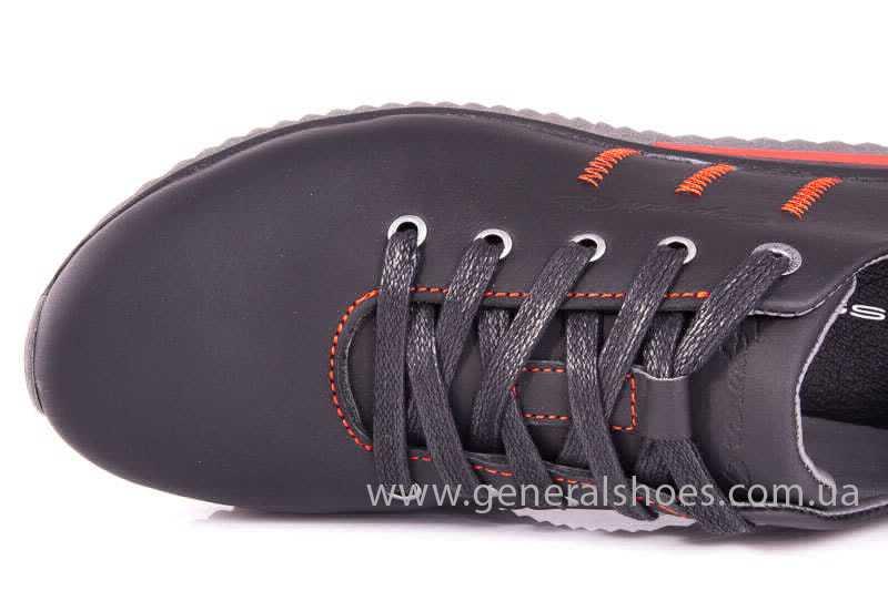 Подростковые кожаные кроссовки GS Junior 10 Zidan blk фото 9