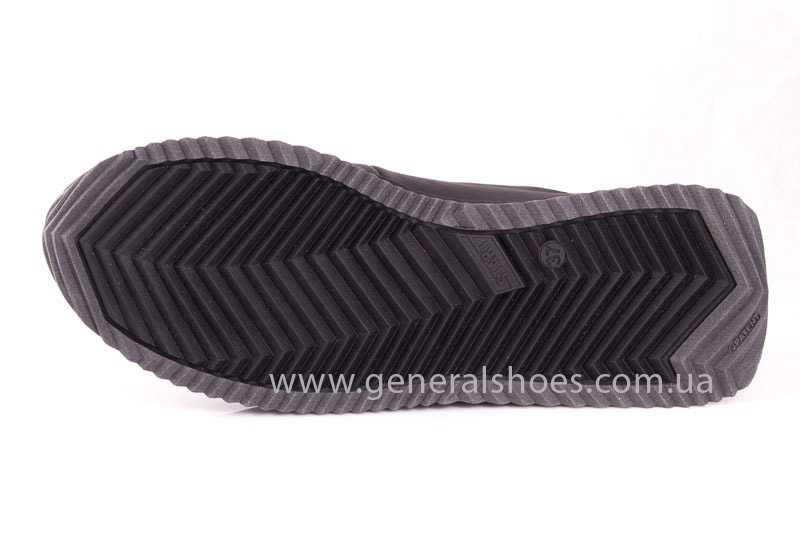 Подростковые кожаные кроссовки GS Junior 10 Zidan blk фото 10
