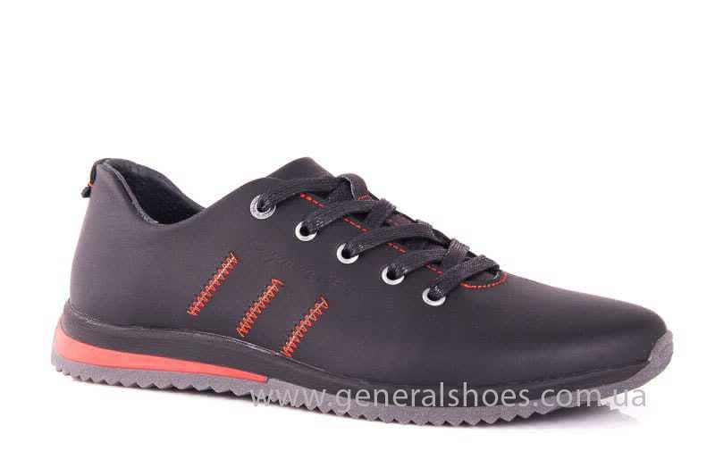 Подростковые кожаные кроссовки GS Junior 10 Zidan blk фото 1