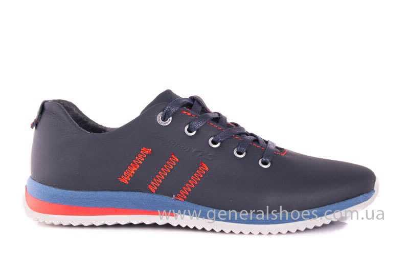 Подростковые кожаные кроссовки GS Junior 10 Zidan blue red фото 2