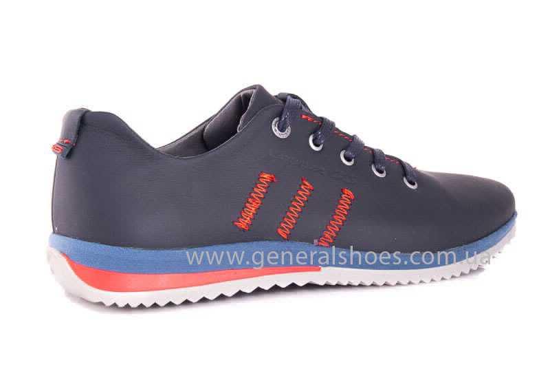 Подростковые кожаные кроссовки GS Junior 10 Zidan blue red фото 3
