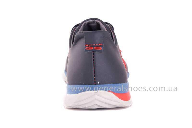 Подростковые кожаные кроссовки GS Junior 10 Zidan blue red фото 4