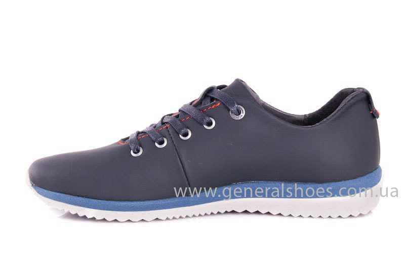 Подростковые кожаные кроссовки GS Junior 10 Zidan blue red фото 5