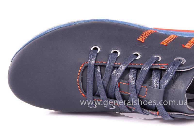 Подростковые кожаные кроссовки GS Junior 10 Zidan blue red фото 9