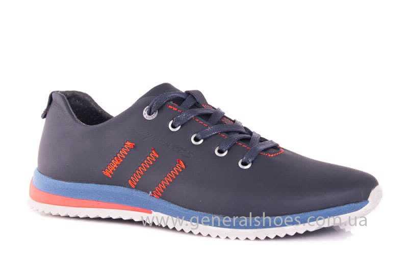 Подростковые кожаные кроссовки GS Junior 10 Zidan blue red фото 1