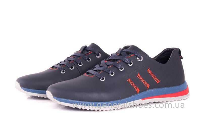 Подростковые кожаные кроссовки GS Junior 10 Zidan blue red фото 6