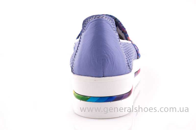 Женские кожаные балетки 09 blue фото 4