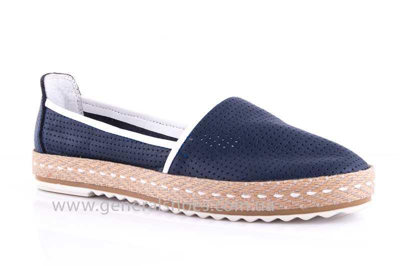 Женские кожаные эспадрильи 07 blue - General Shoes 619711376cfb6