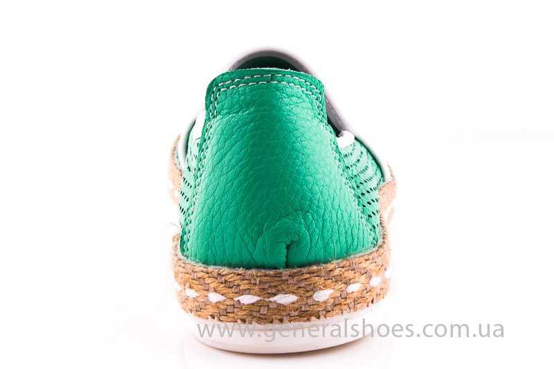 Женские кожаные эспадрильи 07 green фото 4
