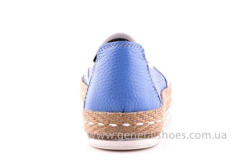 Женские кожаные эспадрильи 07 light blue фото 4