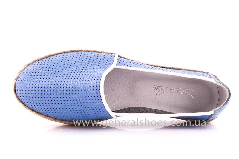 Женские кожаные эспадрильи 07 light blue фото 6
