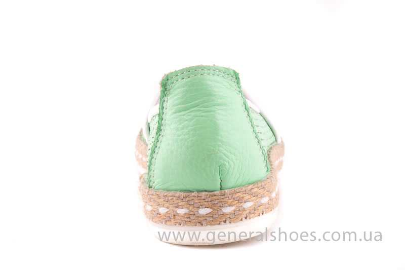 Женские кожаные эспадрильи 07 light green фото 4