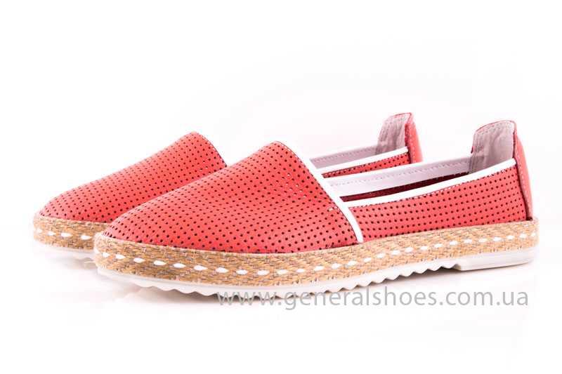 Женские кожаные эспадрильи 07 red фото 7