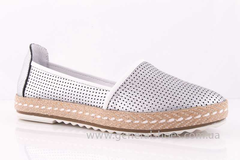 Женские кожаные эспадрильи 07 silver - General Shoes d874d058b4dcd