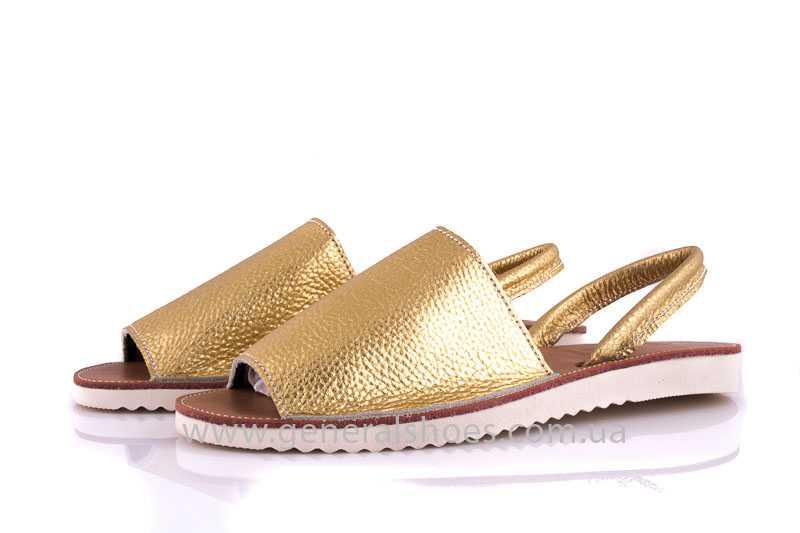 Женские кожаные сандалии 08 gold фото 7