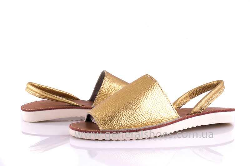 Женские кожаные сандалии 08 gold фото 8