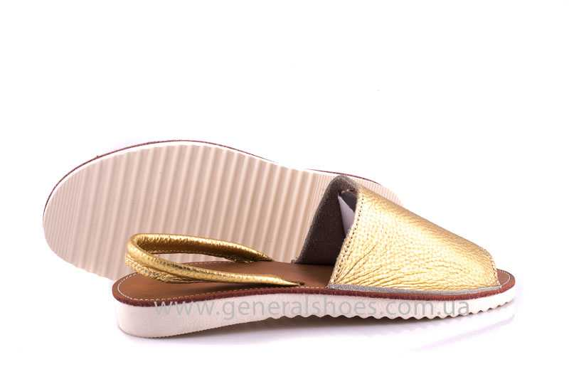 Женские кожаные сандалии 08 gold фото 9