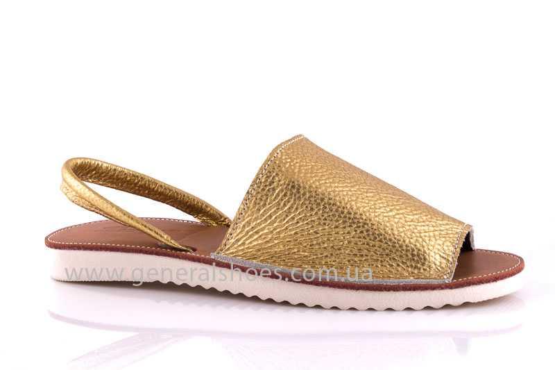 Женские кожаные сандалии 08 gold фото 1