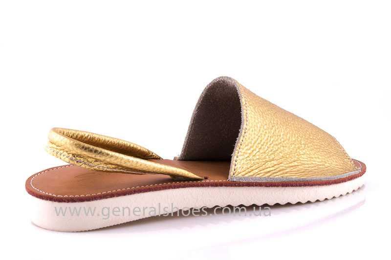Женские кожаные сандалии 08 gold фото 3