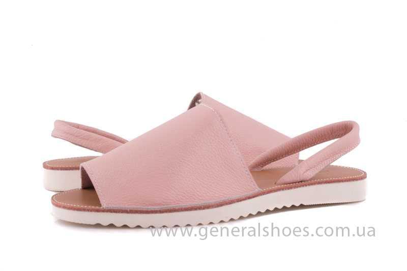 Женские кожаные сандалии 08 pink фото 8