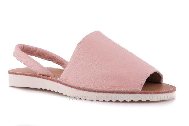 Женские кожаные сандалии 08 pink фото 1