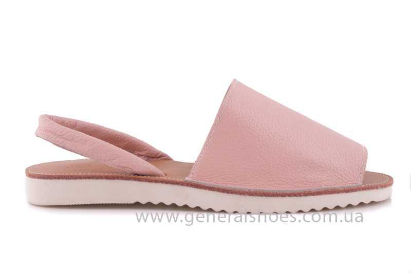 Женские кожаные сандалии 08 pink фото 2