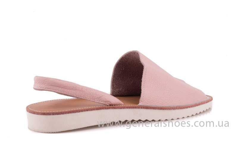 Женские кожаные сандалии 08 pink фото 3