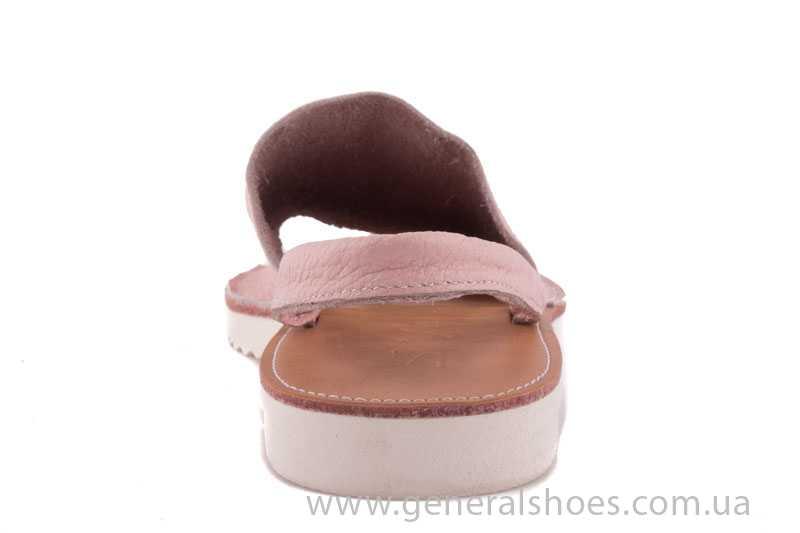 Женские кожаные сандалии 08 pink фото 4