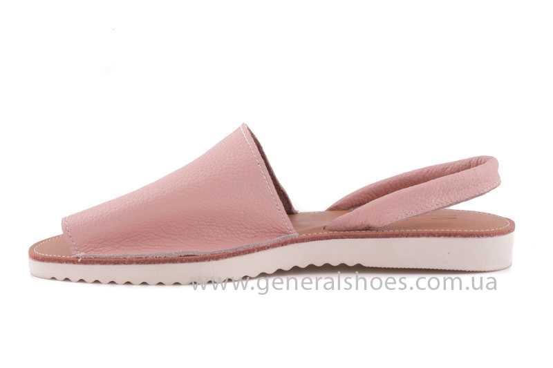 Женские кожаные сандалии 08 pink фото 5