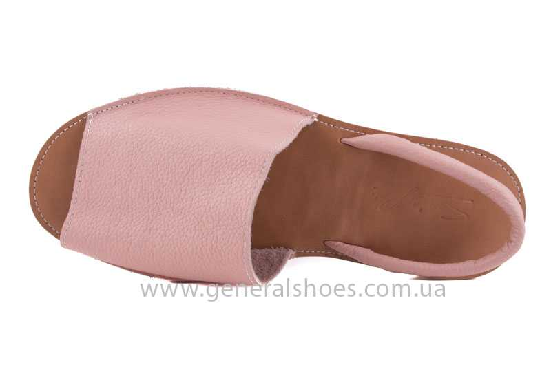 Женские кожаные сандалии 08 pink фото 6