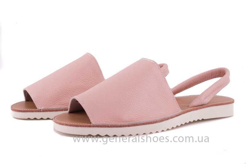 Женские кожаные сандалии 08 pink фото 7