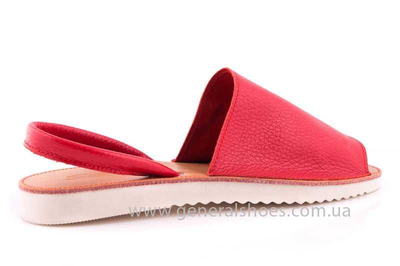 Женские кожаные сандалии 08 red фото 3