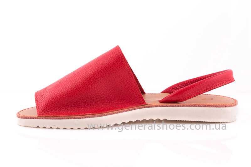 Женские кожаные сандалии 08 red фото 4