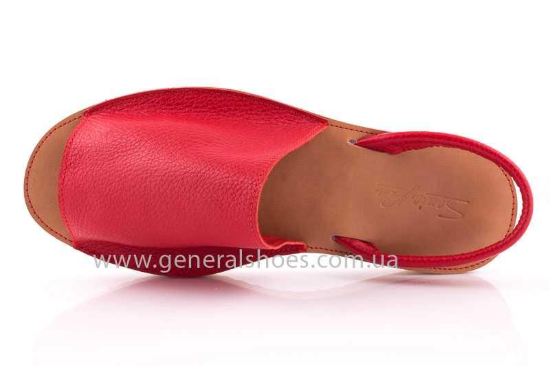 Женские кожаные сандалии 08 red фото 5