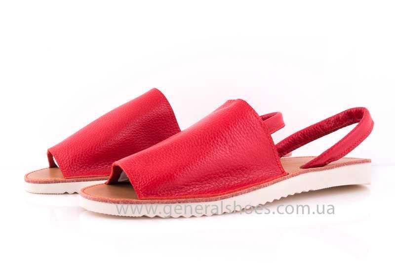 Женские кожаные сандалии 08 red фото 6