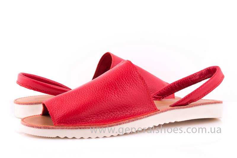 Женские кожаные сандалии 08 red фото 7